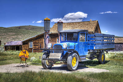 Photograph - Old Truck And Gas Pumps by Joe  Palermo