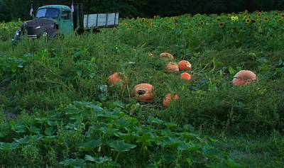 Photograph - Old Truck And Pumpkins by Christopher Kirby