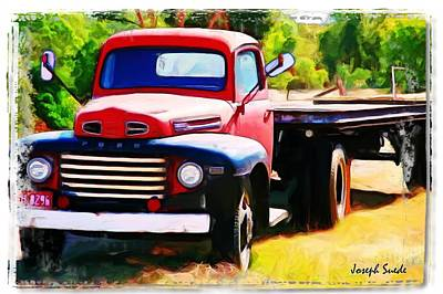 Photograph - Old Truck Edited by Digital Oil