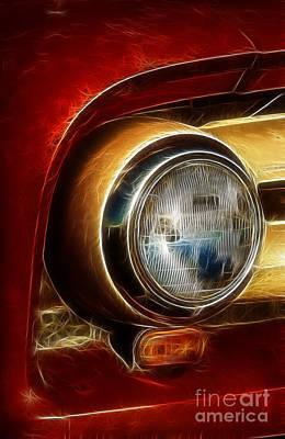 Old Truck Headlight Art Print by Darleen Stry