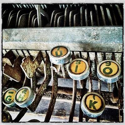 Typewriter Wall Art - Photograph - Old Type Keys by Natasha Marco