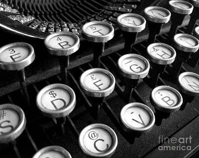 Old Typewriter Art Print by Kate McKenna