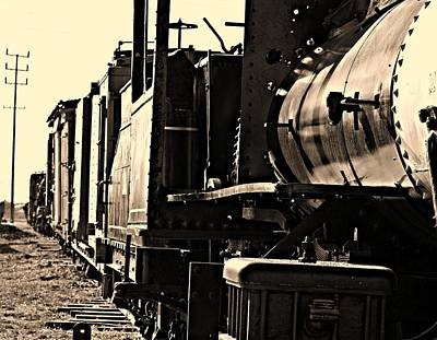Art Print featuring the photograph Old Unused Train by Elizabeth  Doran