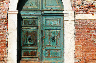 Photograph - Old Venice Door by Jeanne  Woods