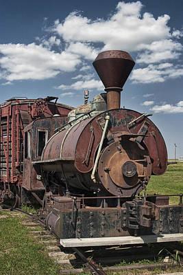 Old Vintage 1880's Railroad Train No.0394 Art Print