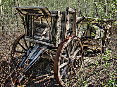 Old Wagon Art Print