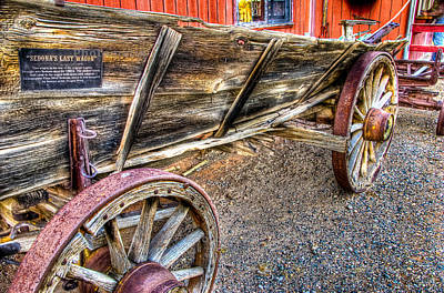 Old Wagon Art Print by Jon Berghoff