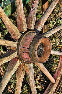 Photograph - Old Wagon Wheel by Jan Amiss Photography
