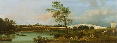 Painting - Old Walton's Bridge by Giovanni Antonio Canaletto