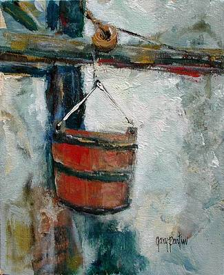 Painting - Old Well Bucket by Gary Partin