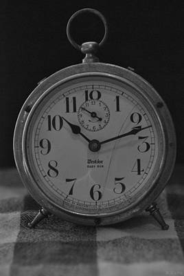 Photograph - Old Westclock In Black And White by Rob Hans