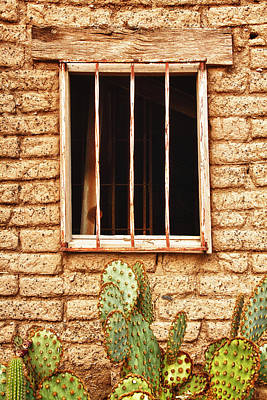 Photograph - Old Western Jailhouse Window by James BO Insogna