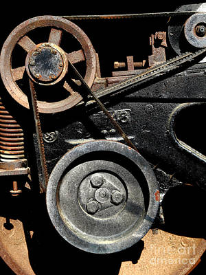 Old Western Pacific Caboose Train Wheel . 7d10626 Art Print by Wingsdomain Art and Photography