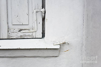 Old Window Shutters Detail Art Print