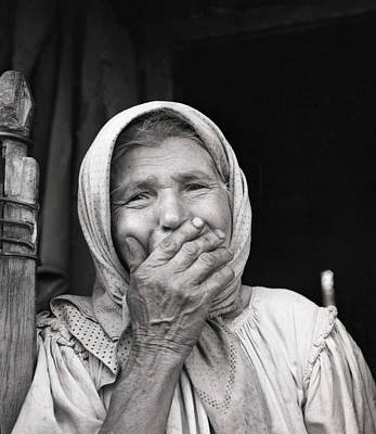 Photograph - Old Woman From Maramures Romania by Emanuel Tanjala