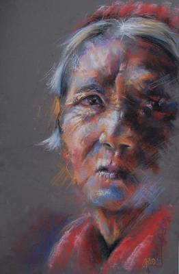 Pastel - Old Woman by Joanna Gates