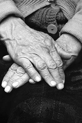 Old Woman's Hands Art Print by Emanuel Tanjala