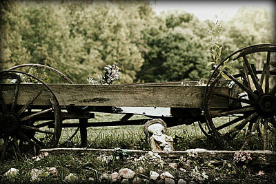 Rolled Yard Photograph - Old Wooden Cart by Emanuel Tanjala