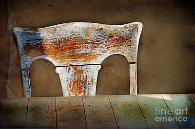 Old Wooden Chair Art Print