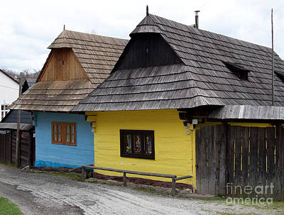 Art Print featuring the photograph Old Wooden Homes by Les Palenik