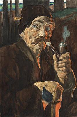 Woodsmen Painting - Old Woodsman by Attila Dancsak