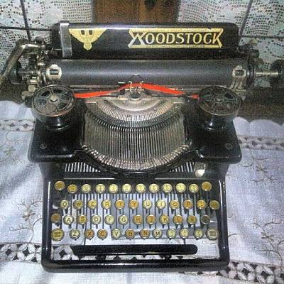 Typewriter Wall Art - Photograph - Old Woodstock Typewriter by Javier Moreno