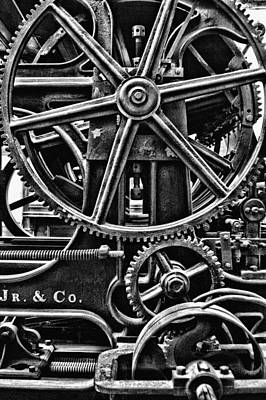 Gearing Photograph - Old World Gears by Kenneth Mucke