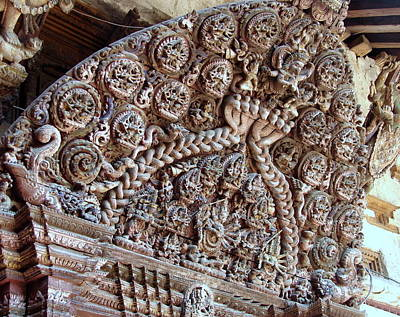 Photograph - Olden Wood Carvings by Anand Swaroop Manchiraju