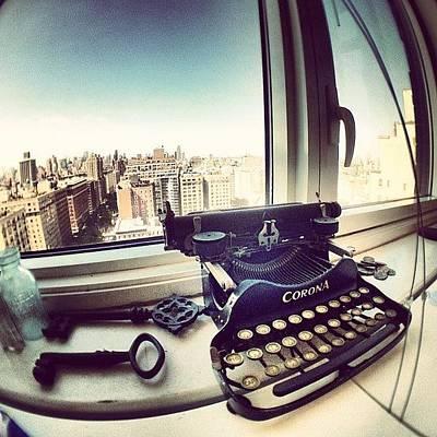 Typewriter Photograph - Older Secretary by Tiny Elevator