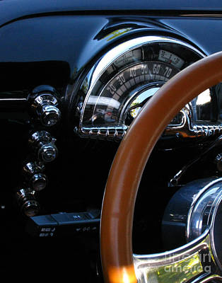 Photograph - Oldsmobile 88 Dashboard by Peter Piatt