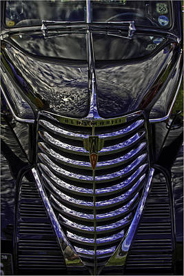 Oldsmobile Reflected Art Print by Nigel Jones