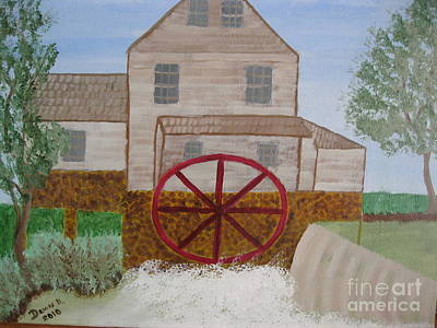 Ole' Grist Mill Art Print by Dawn Harrold