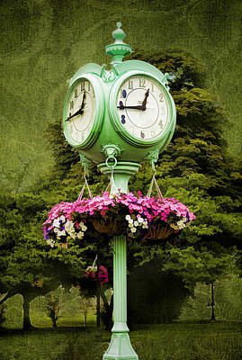 Photograph - 'ole Town Clock by Trudy Wilkerson