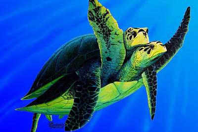 Painting - Olive Ridley Sea Turtle by Michael Cranford