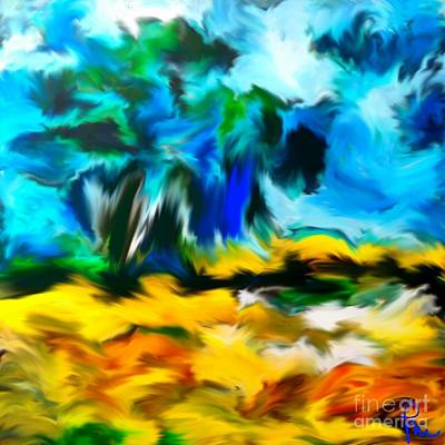 Digital Digital Art - Olive Trees In The Manner Of Van Gogh by Dragica  Micki Fortuna