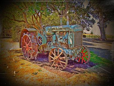 Oliver Tractor 2 Art Print by Nick Kloepping