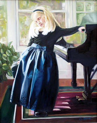 Steinway Grand Piano Wall Art - Painting - Olivia by Erin Rickelton
