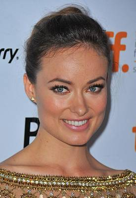 Hair Bun Photograph - Olivia Wilde At Arrivals For Butter by Everett