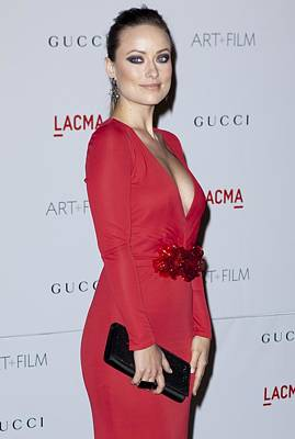 Cocktail Ring Photograph - Olivia Wilde Wearing A Gucci Dress by Everett