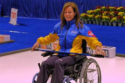 Olympian Cheryl Bernard Wheelchair Curling Original by Lawrence Christopher
