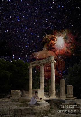 Olympia's Temple Art Print by Pavlos Vlachos