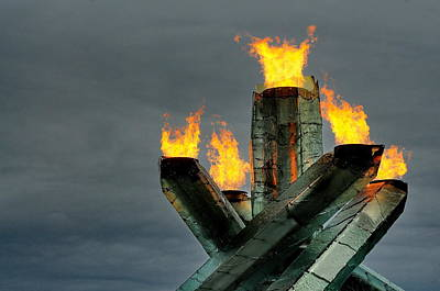 Photograph - Olympic Cauldron by Sandra Sigfusson