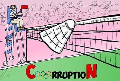 Olympic Corruption Cartoon Art Print by Yasha Harari