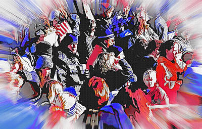Olympic Crowd Snapshot Art Print