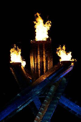 Olympic Flame Art Print