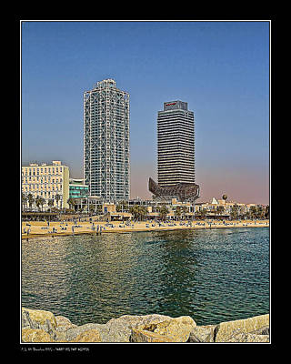 Olympic Harbor Towers Art Print by Pedro L Gili