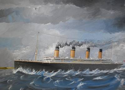 Ocean Liner Painting - Olympic Off The Old Head by James McGuinness