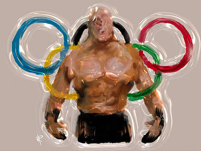 Mixed Media - Olympic Rings by Russell Pierce