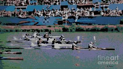 Photograph - Olympic Rowing by George Pedro
