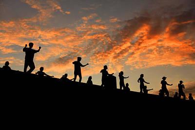 Olympic Stadium At Sunrise Art Print by Francisco De Souza